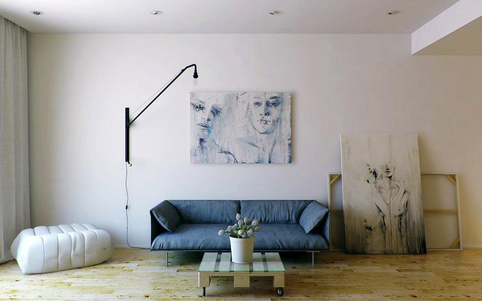 использование живописи в интерьере