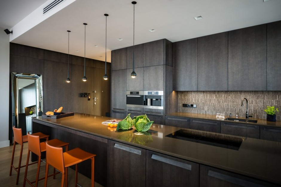идеальный современный интерьер кухни