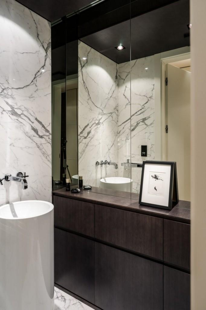 идеальный современный интерьер ванной