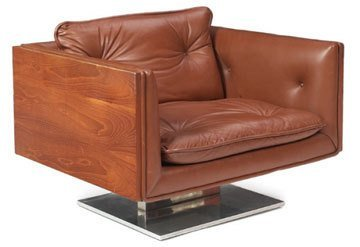 wood-framed-leather-armchair-with-metal-base-designed-by-platner-for-lehigh-leopold-in-the-1950s