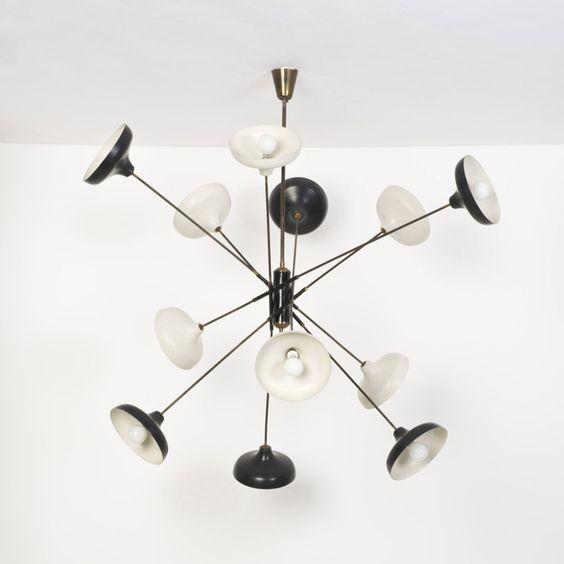 angelo-lelli-enameled-aluminum-and-brass-ceiling-light-for-arredoluce-1950s