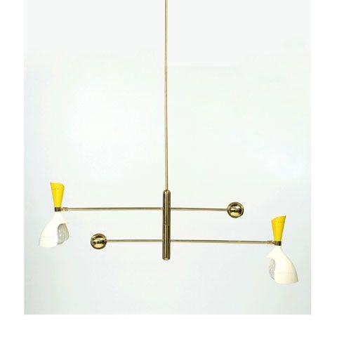 brass-enameled-metal-chandelier-by-stilnovo-1950s