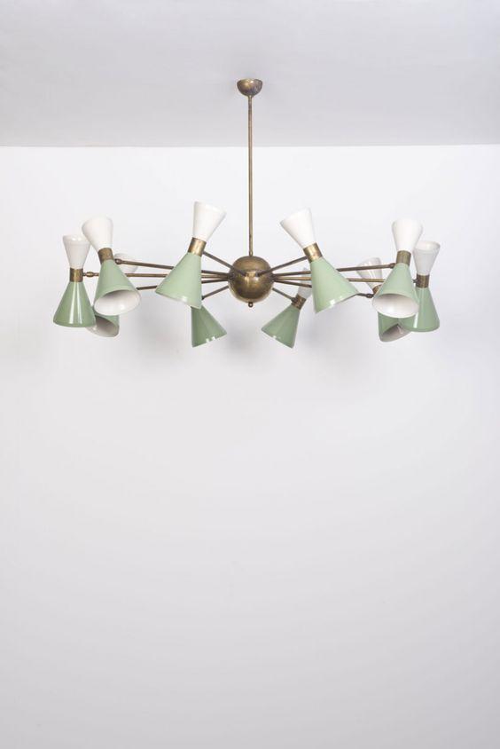 enameled-metal-and-brass-ceiling-light-by-stilnovo-1950s